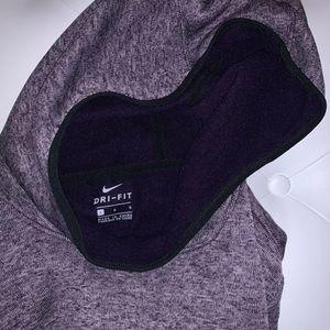 purple nike crowl neck hoodie